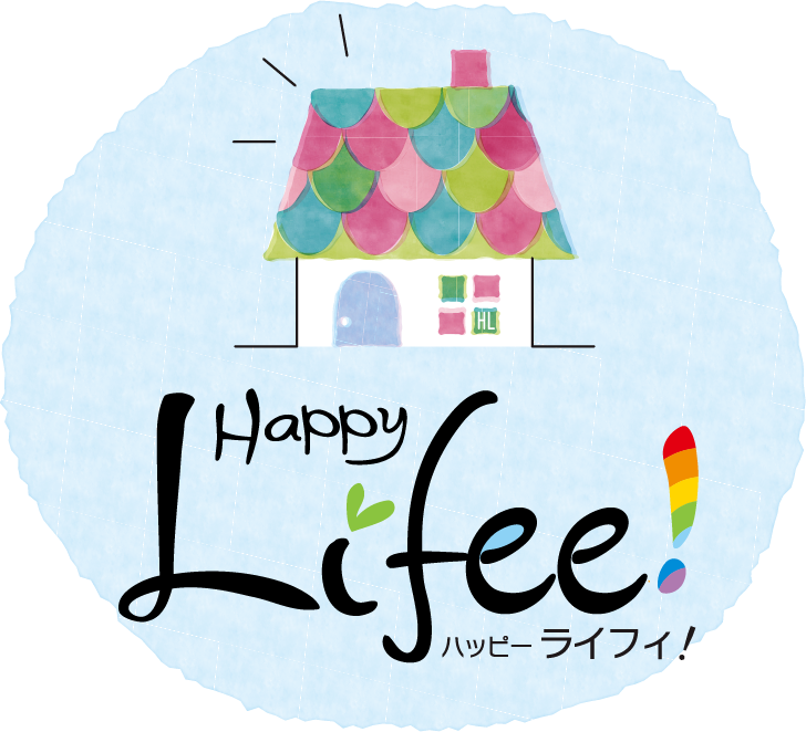 Life!ロゴマーク。素敵な家族がまだ見ぬ、想像の素晴らしい家を形にします。